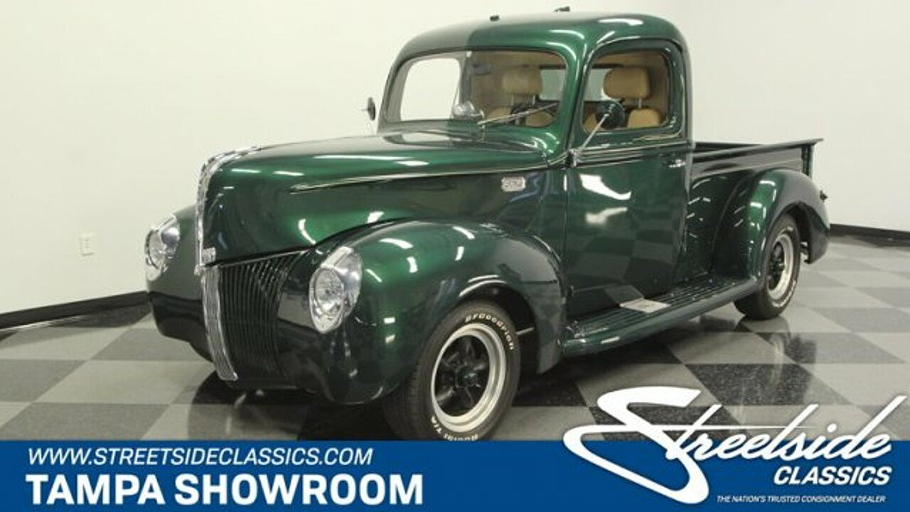 1940 Ford Pickup For Sale Near Lutz Florida 33559 Classics On 1941 Truck Front Fenders 101000740