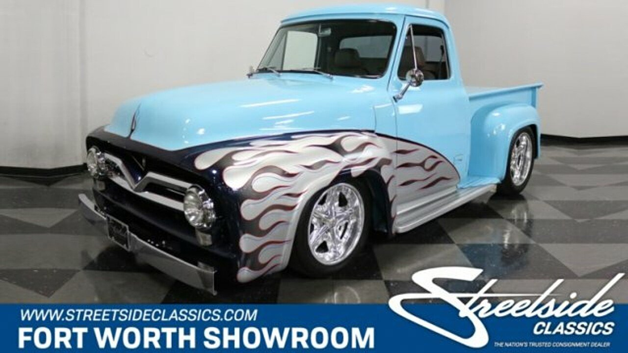 1955 Ford F100 For Sale Near Fort Worth Texas 76137 Classics On Show Trucks 100940270