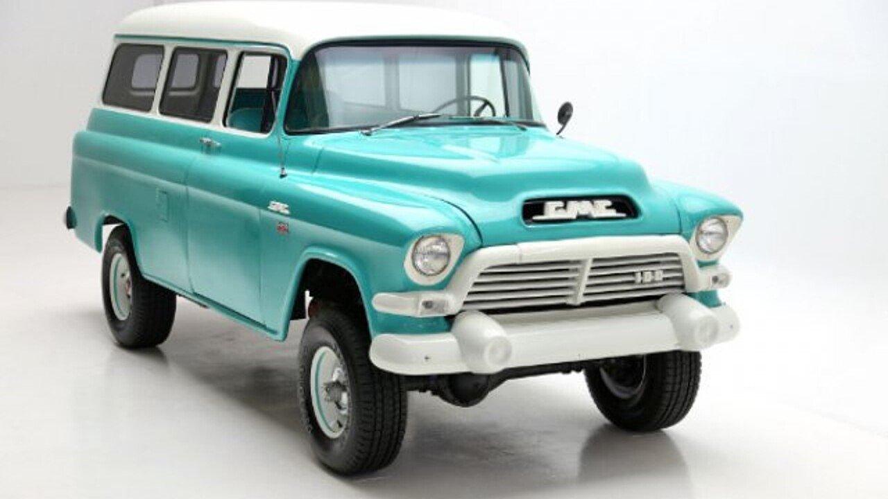 1957 Gmc Suburban For Sale Near Des Monies Iowa 50309 Classics On 1954 Chevy 4x4 100945467