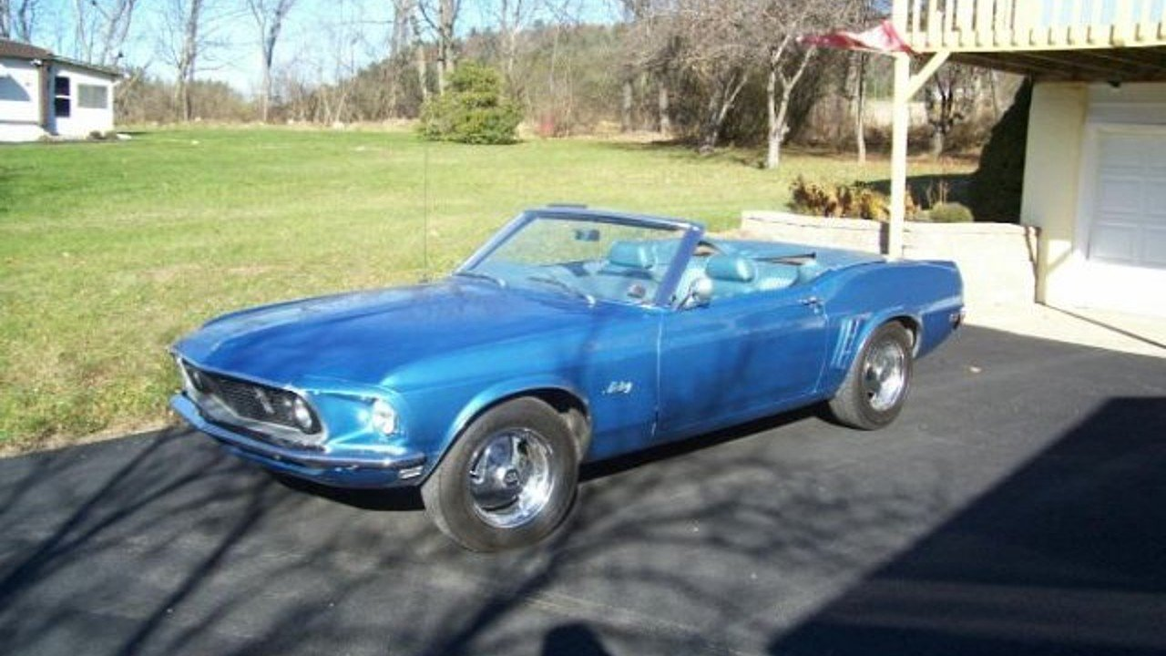 1969 ford mustang convertible for sale near cadillac michigan 49601 classics on autotrader. Black Bedroom Furniture Sets. Home Design Ideas