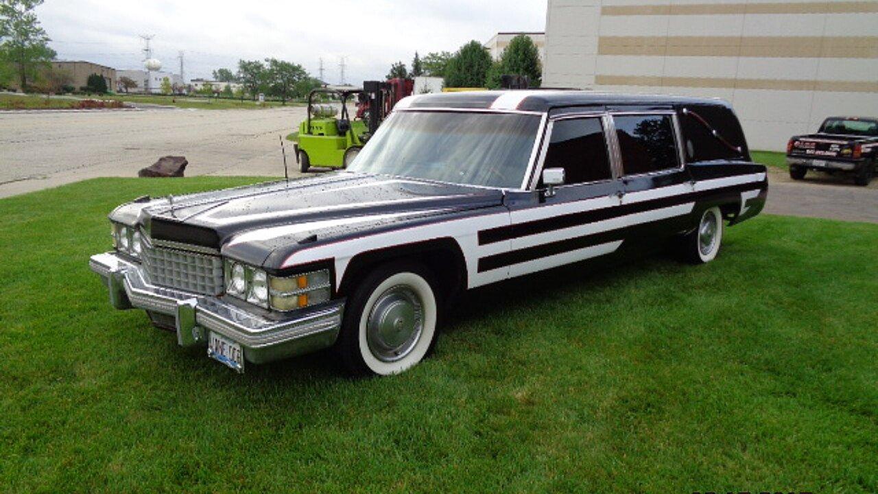 1974 cadillac fleetwood hearse for sale near mundelein illinois 60060 classics on autotrader. Black Bedroom Furniture Sets. Home Design Ideas