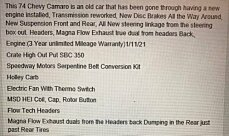 1974 Chevrolet Camaro for sale 100968849