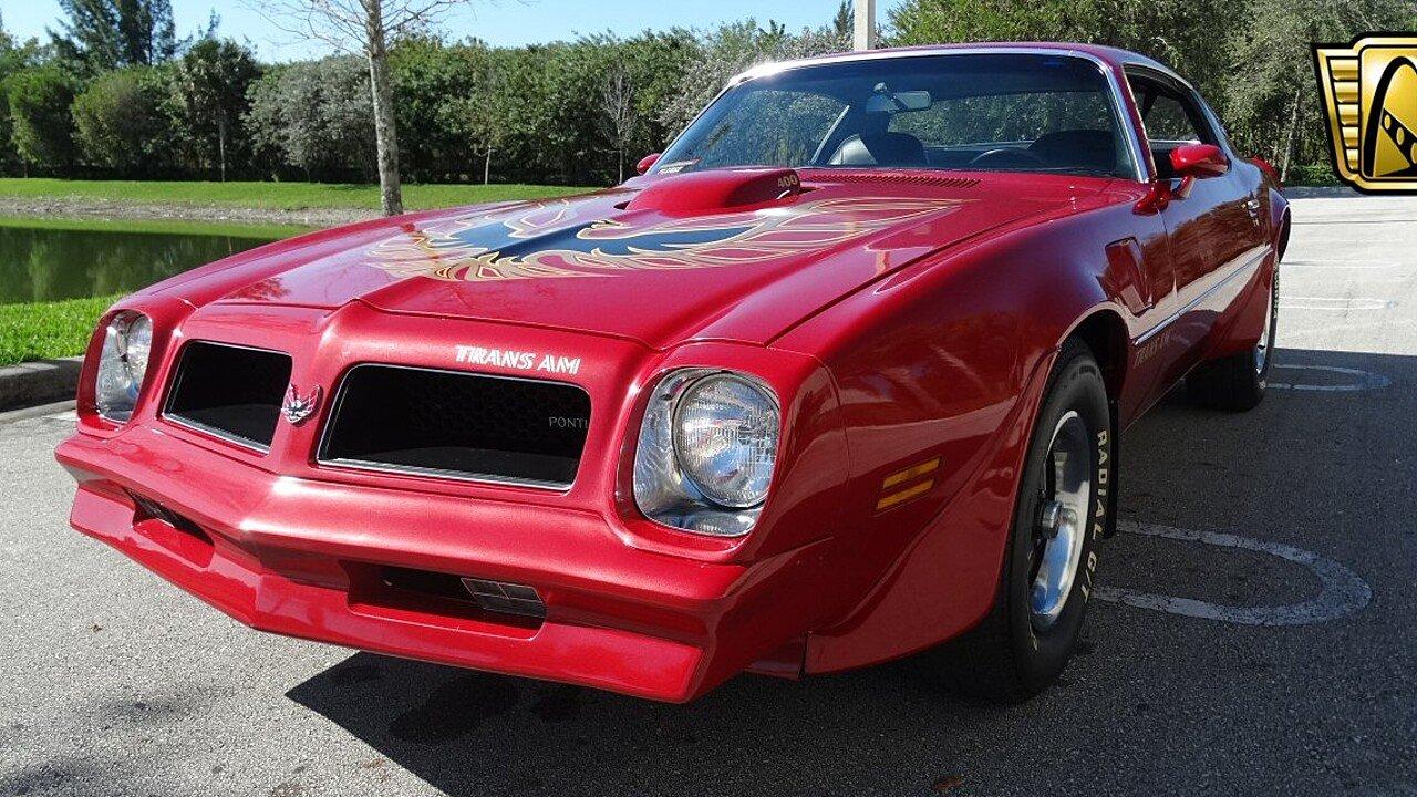 1976 Pontiac Trans Am for sale near coral springs, Florida 33071 ...