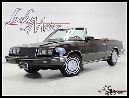 1984 Chrysler LeBaron Convertible for sale 100878920