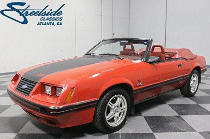 1984 Ford Mustang GLX V8 Convertible for sale 100957248
