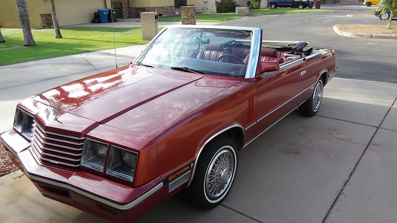 1985 Dodge 600 Convertible for sale 101007717