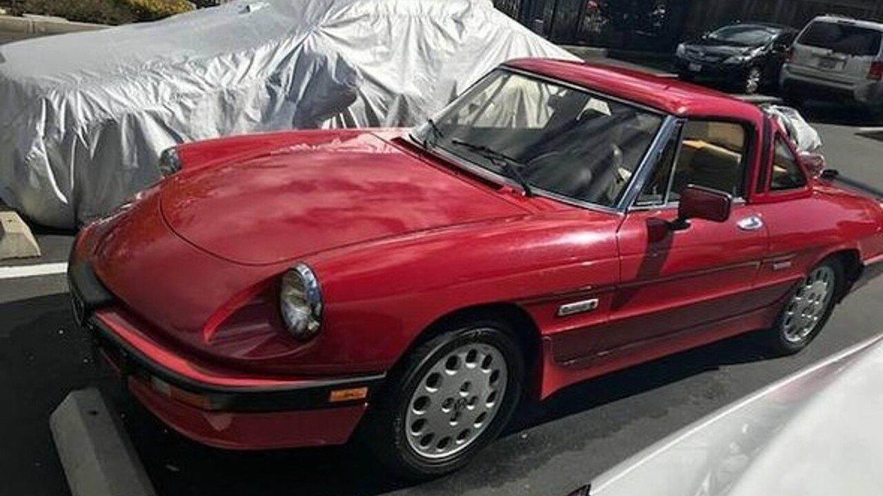 Alfa Romeo Spider Quadrifoglio For Sale Near Woodland Hills - 1988 alfa romeo spider for sale