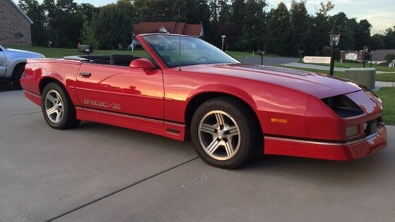 1990 Chevrolet Camaro IROC-Z Convertible for sale 100791910