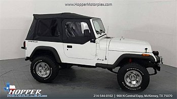 1991 Jeep Wrangler 4WD S for sale 101016359