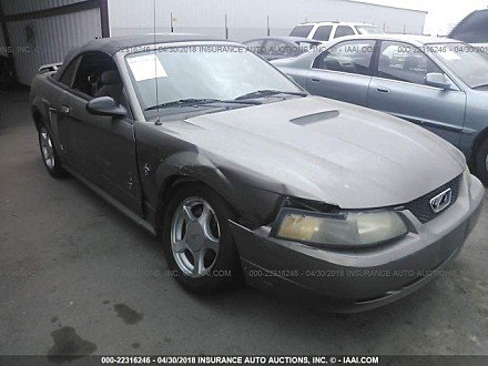 2001 ford Mustang Convertible for sale 101016069