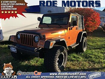 2002 Jeep Wrangler 4WD Sport for sale 100822207