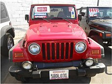 2002 Jeep Wrangler 4WD Sport for sale 100886287