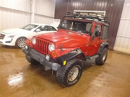 2004 Jeep Wrangler 4WD for sale 100982835