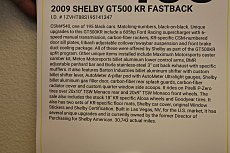 2009 Ford Mustang Shelby GT500 Coupe for sale 100818156