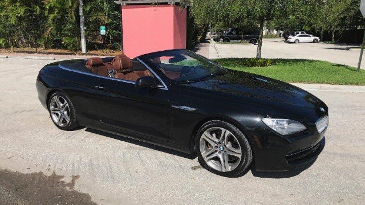 2012 BMW 650i Convertible for sale near Delray Beach, Florida 33483 ...