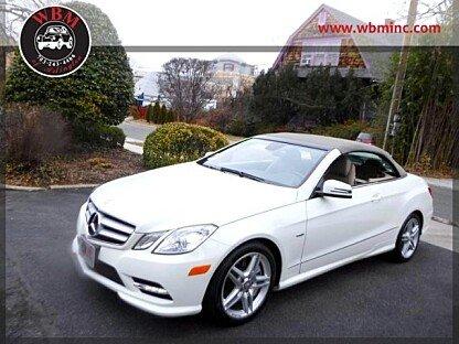 2012 Mercedes-Benz E550 Cabriolet for sale 100954698