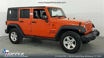 2015 Jeep Wrangler 4WD Unlimited Sport for sale 101053634
