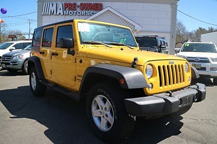 2015 Jeep Wrangler 4WD Unlimited Sport for sale 100979672