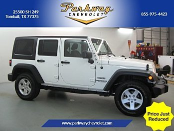 2016 Jeep Wrangler 4WD Unlimited Sport for sale 100934495