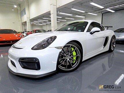 2016 Porsche Cayman GT4 for sale 101044931