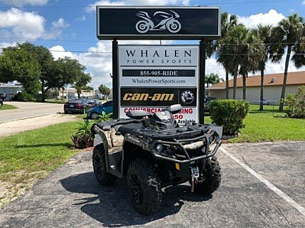 2017 Can-Am Outlander 650 XT for sale 200514224