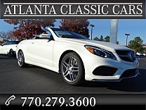 2017 Mercedes-Benz E550 Cabriolet for sale 100833419