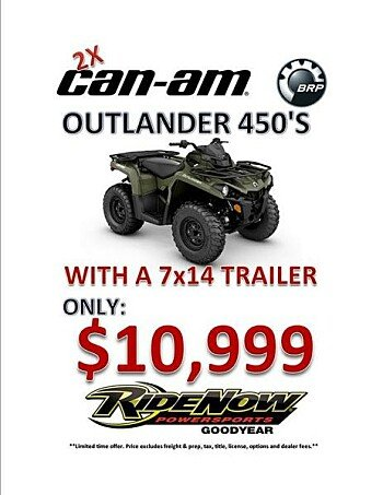 2018 Can-Am Outlander 450 for sale 200529926