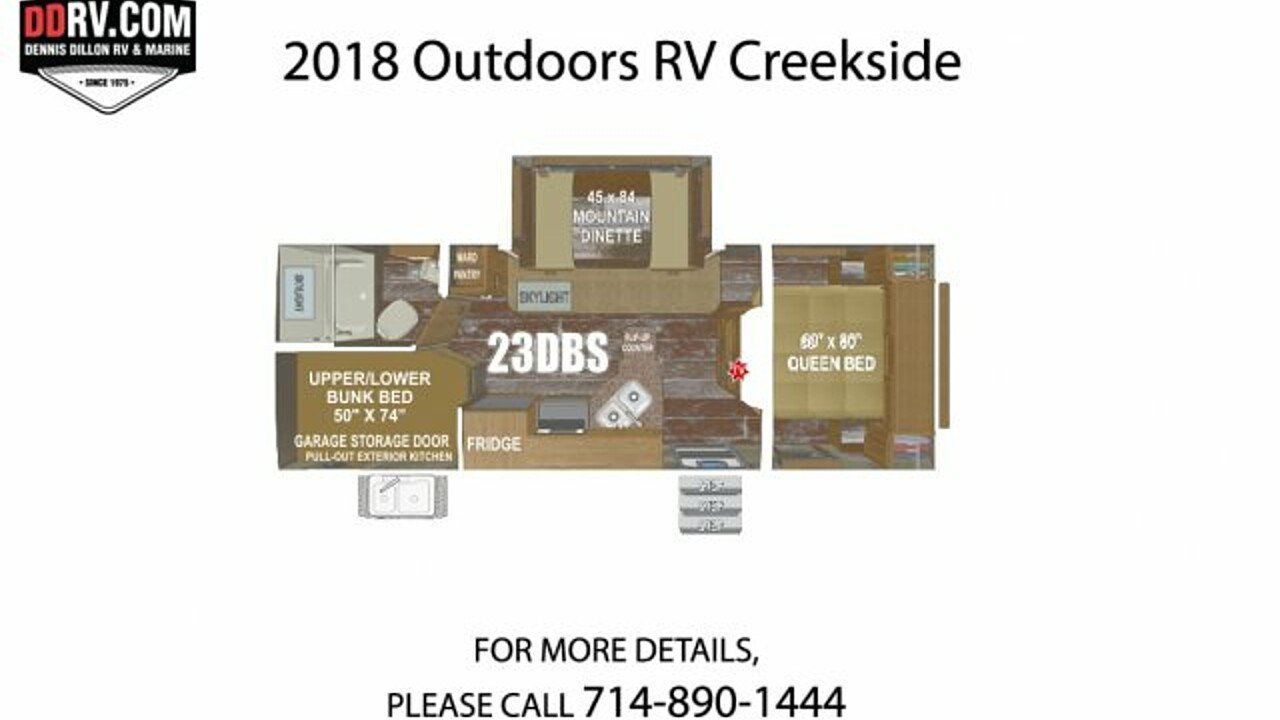 2018 Outdoors RV Creekside for sale 300148794