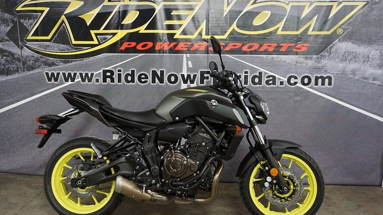 2018 Yamaha MT-07 for sale 200570425