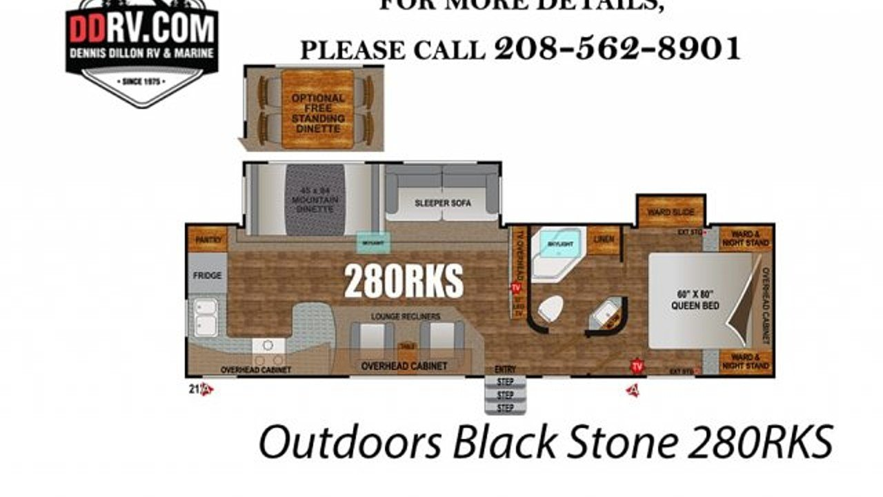 2019 Outdoors RV Black Stone for sale 300159117