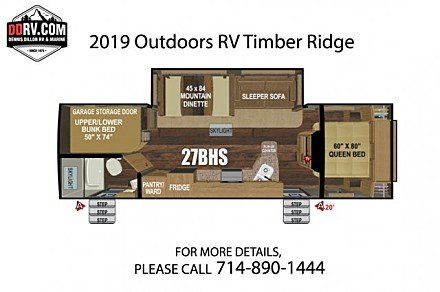 2019 Outdoors RV Timber Ridge for sale 300165661