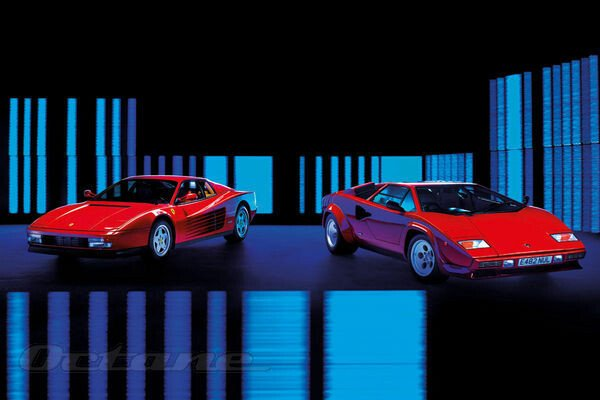 Lamborghini Countach V Ferrari Testarossa
